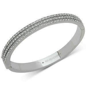 Swarovski Crystal Bangle Bracelet in Rhodium